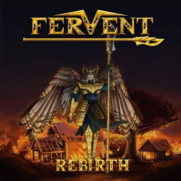 Cd de l'album rebirth du groupe fervent en vente sur la boutique en ligne corsemusicevents